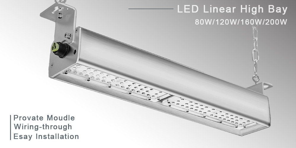 linear highbay could be installed with through-wiring connectors