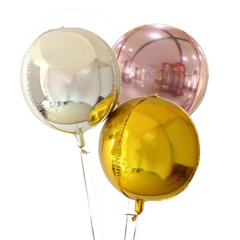 Party City Giant 10 18 22 32 Inch Helium Mylar Ballons Rose Gold Orbz Balloons For