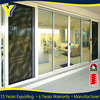 YY Custruction in China iron double toughed glazing flexible track sliding door