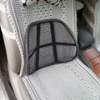 Popular Mesh Car Seat Back Lumbar Support Mesh Lumbar Back Brace Support Office Home Car Seat Chair Cushion Cool Black