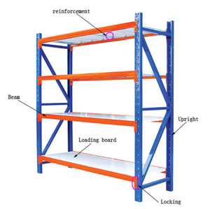 Heavy Duty Stainless Steel Iron Mental Stacking Storage System Shop Warehouse Rack