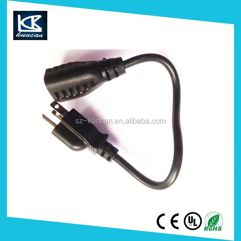computer power cable 2 Metre US C5 Lead Cloverleaf Clover Leaf to 3 Prong USA Plug