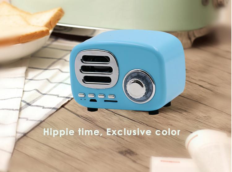 Mobile Multimedia Speakers Outdoor Diy Wireless Retro Creative Bluetooth  Speaker With Fm Radio Microphone - Buy Wireless Speaker With Fm