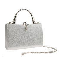 Pearls Decoration Clutch Purses WALLYN'S Evening Bag Handbag Solid Color