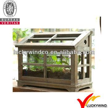 Fsc Holz Rahmen Jahrgang Handwerk Garten Kleinen Mini Gewachshaus