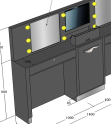 Eyelash extension kiosk / brow kiosk / eyebrow threading furniture