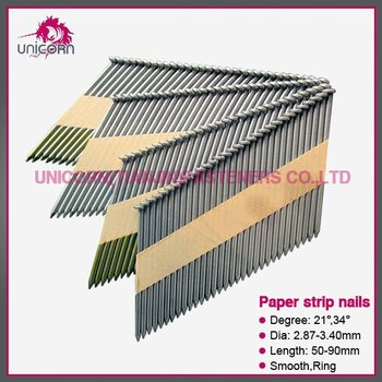 Clipped D Head Framing Nails 34 Degrees Paper Strip Nails