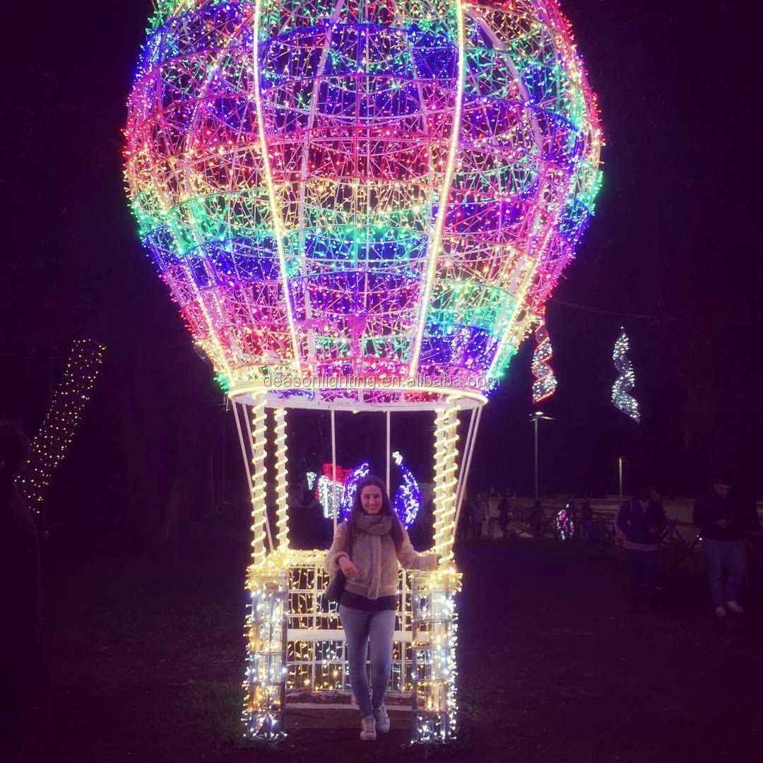 Christmas Hot Air Balloon Decoration