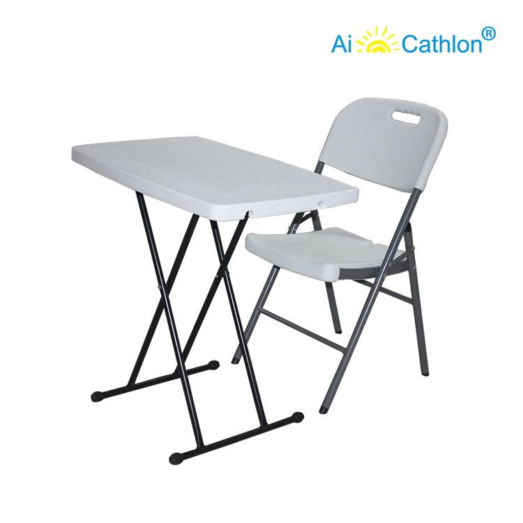 Blow Mold HDPE Computer Foldable Kids Study Table Personal Desk
