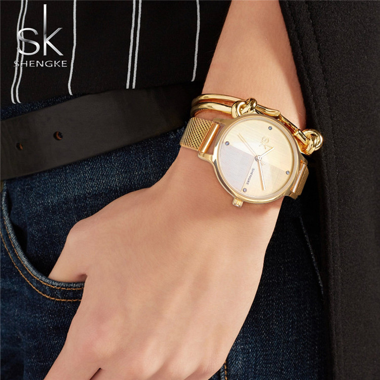2020 Hot Sale Fashion Modern Japan Movt Quartz Watch Stainless Steel Mesh Band Lady Wrist Watch