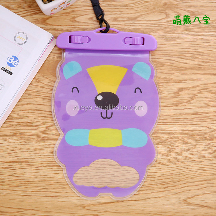 Cartoon high quality best sell transparents PVC waterproof cell phone bag