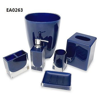 Ea0263 Shenzhen Bathroom Products Navy Blue Bathroom Accessories