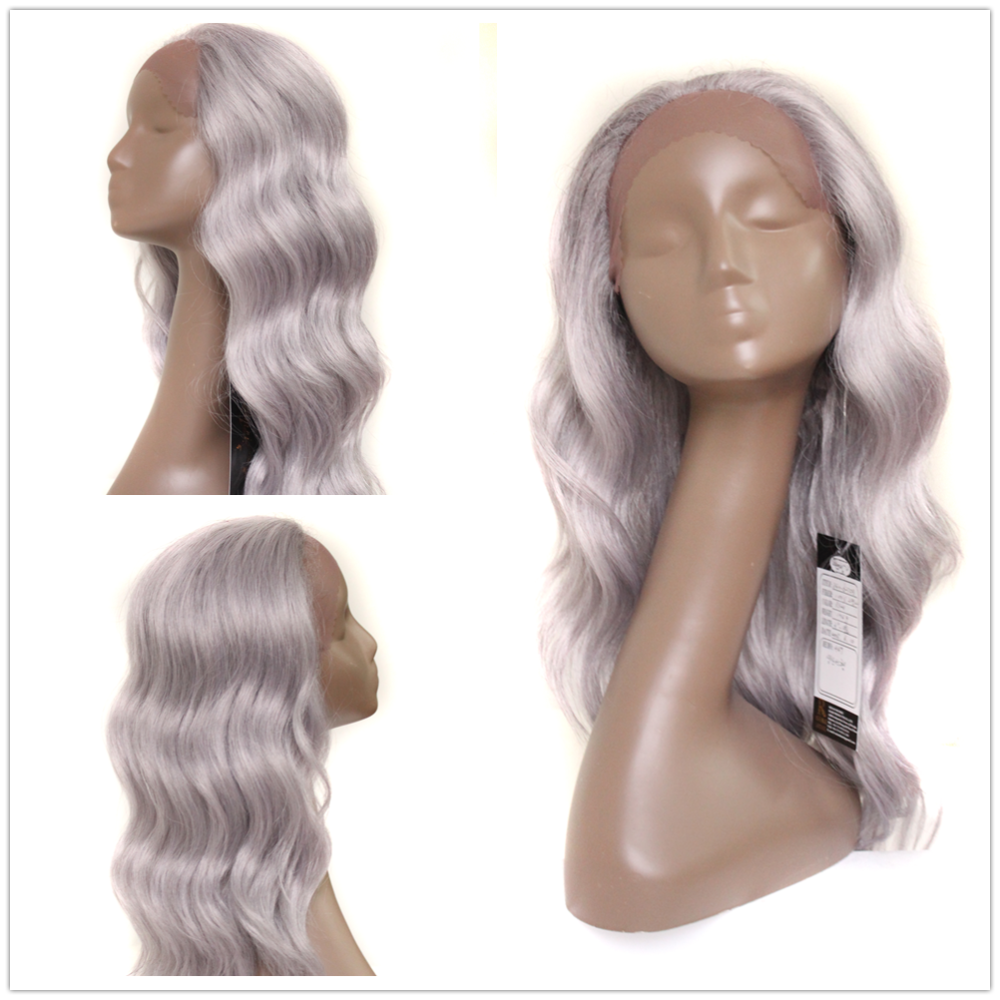 No lace wig adhesive glue 22inch 180g lace front loose deep Latest unique desig fashion long synthetic hair wig from manufacture