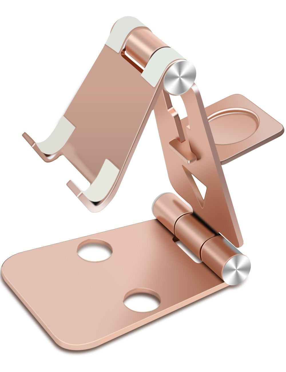 iPhone 6s Stand, iPad Stand, iMangoo Multi-angle Stand Samsung Holder Tablet Dock Adjustable Foldable Cradle Portable Desk Tablet Kickstand Phone Stands Holders for Apple Watch iPhone iPad Rose Gold