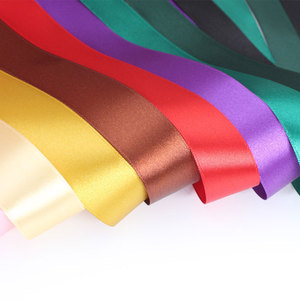 hot sale red 100% polyester gift satin ribbon