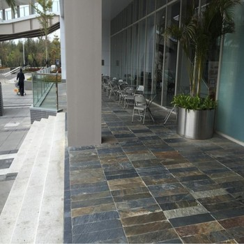 multicolor slate floor tile,paving stone for interior and exterior ...