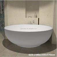 Eco-friendly portable acrylic freestanding round bathtub,Solid surface bathtub,artificial marble stone bath tub