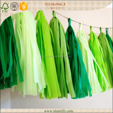 Fuzhou Hanging tissue paper tassel for wedding decoration,party decoration