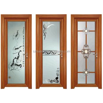 Aluminum Frame Glass Single Leaf Double Counter Swing Door