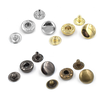 Factory Direct Custom Black Silver Gold Brass Snap Press Stud Metal Snap Button
