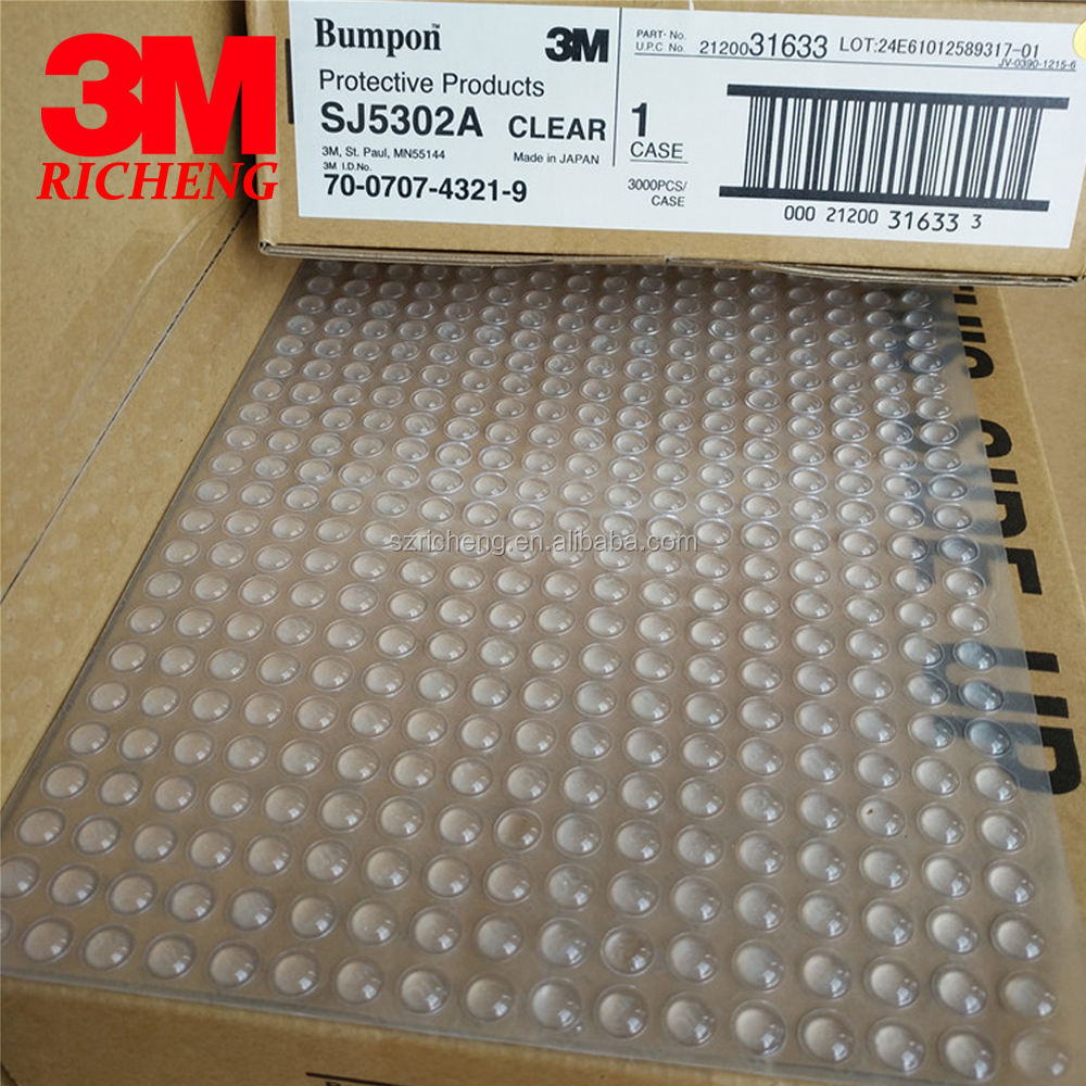 Hot Sell 3M Bumpon Buffer Pads Non Slip Rubber Feet SJ5302A Adhesive Clear Dots, Size 7.9mm(D)*2.2mm(H)
