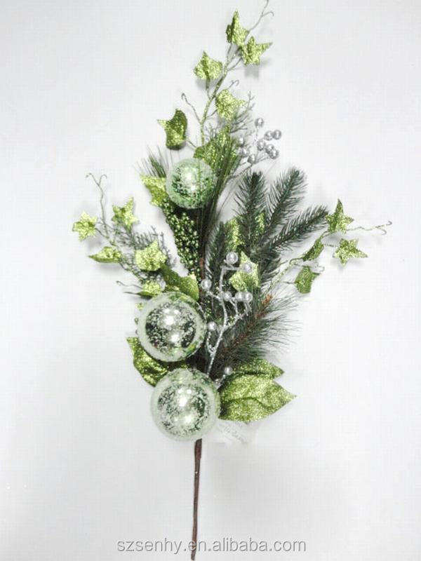 Christmas tinsel pick christmas decoration