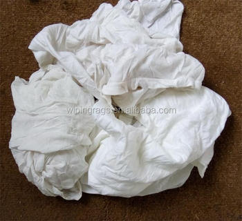 e3675edb8e8 Top quality white 100 cotton t shirt rags 25kg bale in bulk industrial grade  oil cleaning