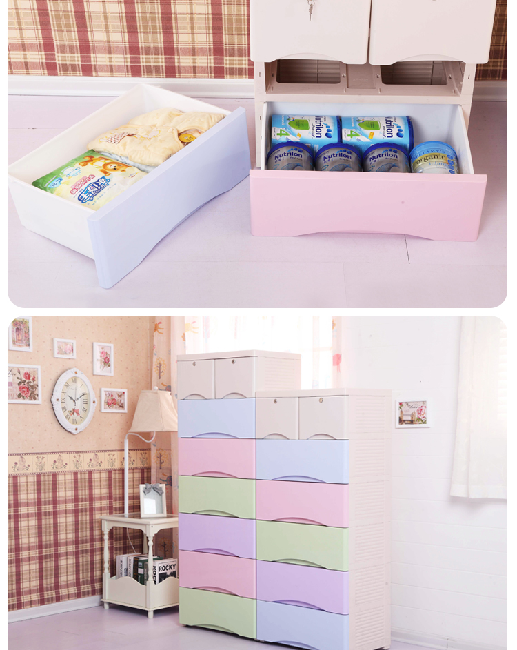 Multi-layer New PP Plastic Drawer Storage Cabinet