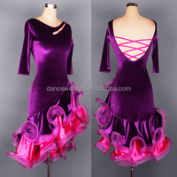 OCTL027 Ballroom Latin Dance Tassel Dress for Women Stage Dance Wear Dresses