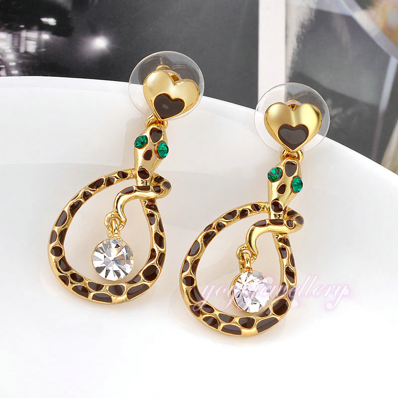 Snake shape drop design new model simple gold earring designs for ...