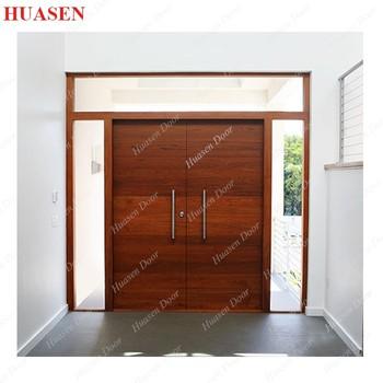 Exterior teak wood main double door designs buy exterior for Teak wood doors models