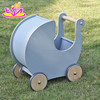 new design toy storage cart wooden baby push walker W16E062