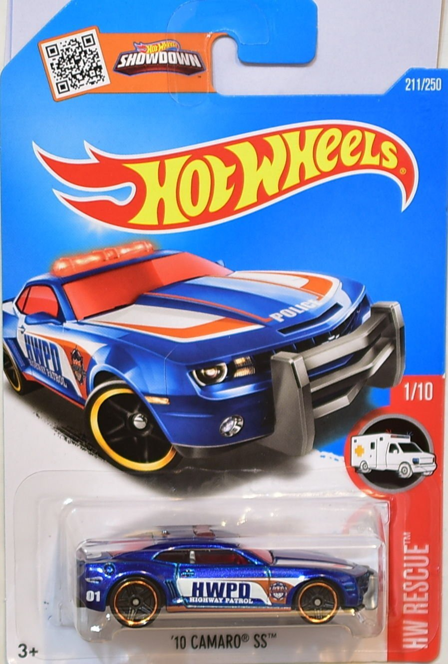 2016 Hot Wheels Hw Rescue 1/10 - '10 Camaro SS (Blue)