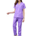 Women Scrub Tops Medical With V Neck Surgical Short Sleeve 2018 High Quality Nursing Scrubs