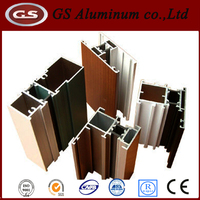 High quality aluminum channel profile to make window and door