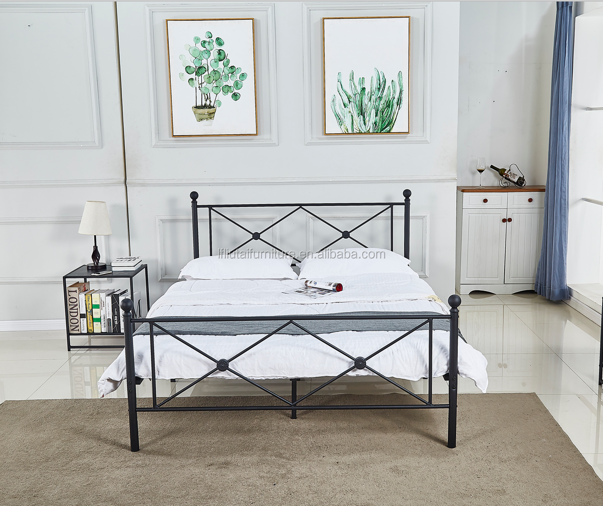Two Side bed  Night Stand Metal Antique Shelf Modern bedroom furniture