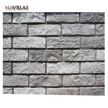 Manufactured Faux Exterior Grey Antique Wall Decorative Brick Veneer