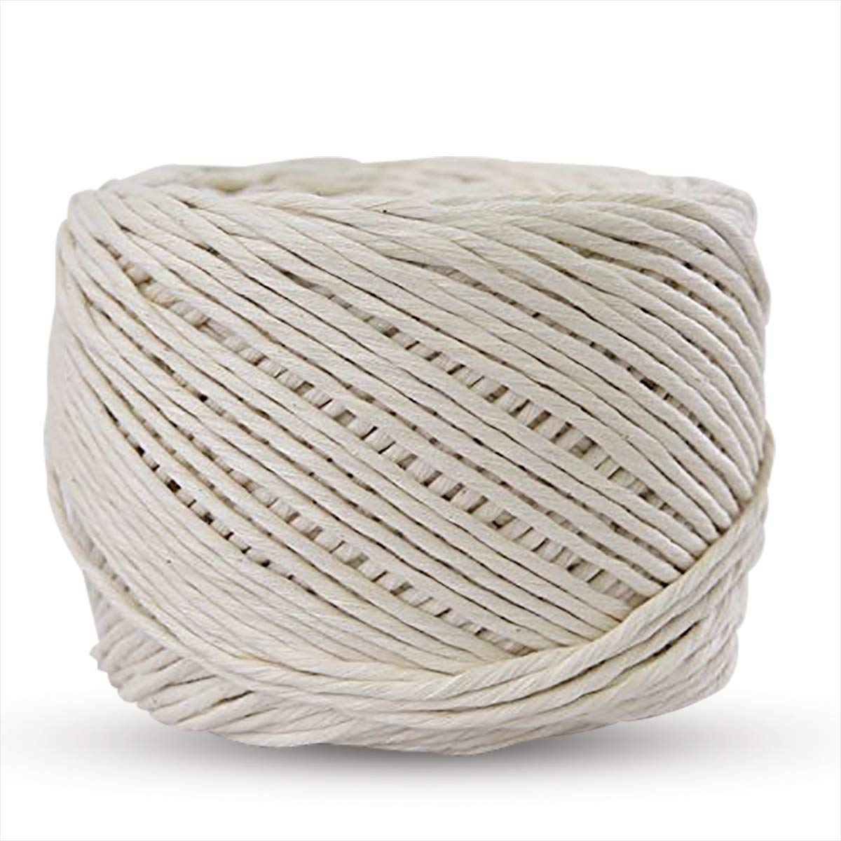SUNTQ Handmade Decorations Softer Natural Cotton Bohemia Macrame Cord DIY Wall Hanging Plant Hanger Craft Making Knitting Cord Rope Natural Color (Natural Color, 4mm)