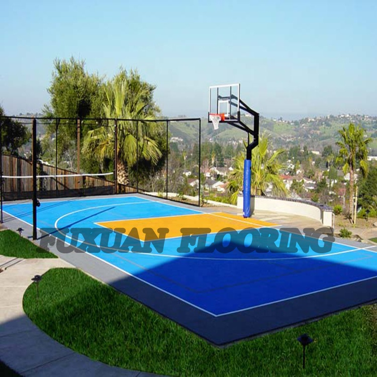 modular outdoor half court basketball court interlocking sport pp flooring tile