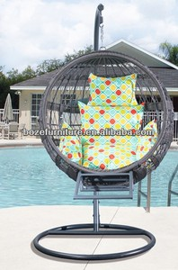 new products!! Patio rattan wicker hanging round chair with ottoman