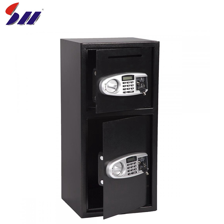 Wholesale customized double door hot rolled steel metal security drop safe deposit box cabinet