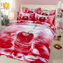 3D ad Alta definizione stampa Bedding set/<span class=keywords><strong>lenzuolo</strong></span>/Quilt copripiumino/Cherry