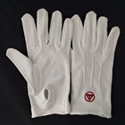 100% Cotton ceremonial gloves embroidery logo gloves police wearing gloves