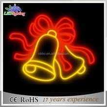 LED christmas Cross Street Lights 2D ring bell Motif LED Lighting for Holiday Decoration