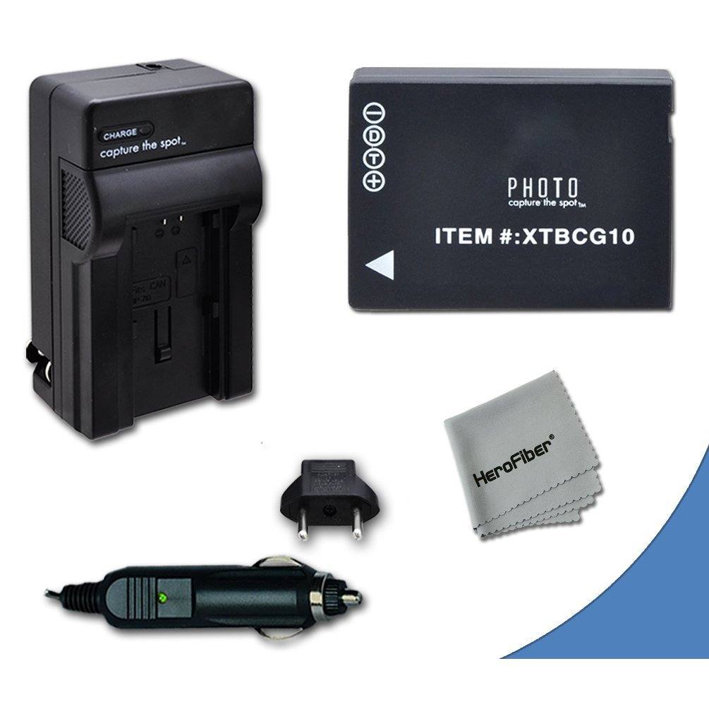 High Capacity Replacement Panasonic DMW-BGC10 / DMW-BGC10PP Battery with AC/DC Quick Charger Kit for Panasonic Lumix DMC-3D1, DMC-TZ6, DMC-TZ10, DMC-TZ18, DMC-TZ19, DMC-TZ20, DMC-TZ25, DMC-TZ30, DMC-TZ35, DMC-ZR1, DMC-ZR3, DMC-ZS1, DMC-ZS5, DMC-ZS6, DMC-ZS7, DMC-ZS8, DMC-ZS9, DMC-ZS10, DMC-ZS15,