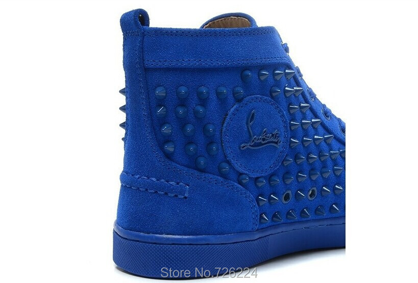royal blue red bottom heels