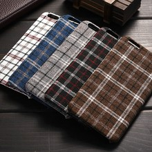 Fashion Classical Cloth Mobile Phone Cover for iphone6. England Plaid Fabric Phone Case for iPhone 6s