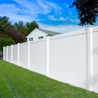 Decorative Site Privacy Temporary Garden Vinyl Fence Panel