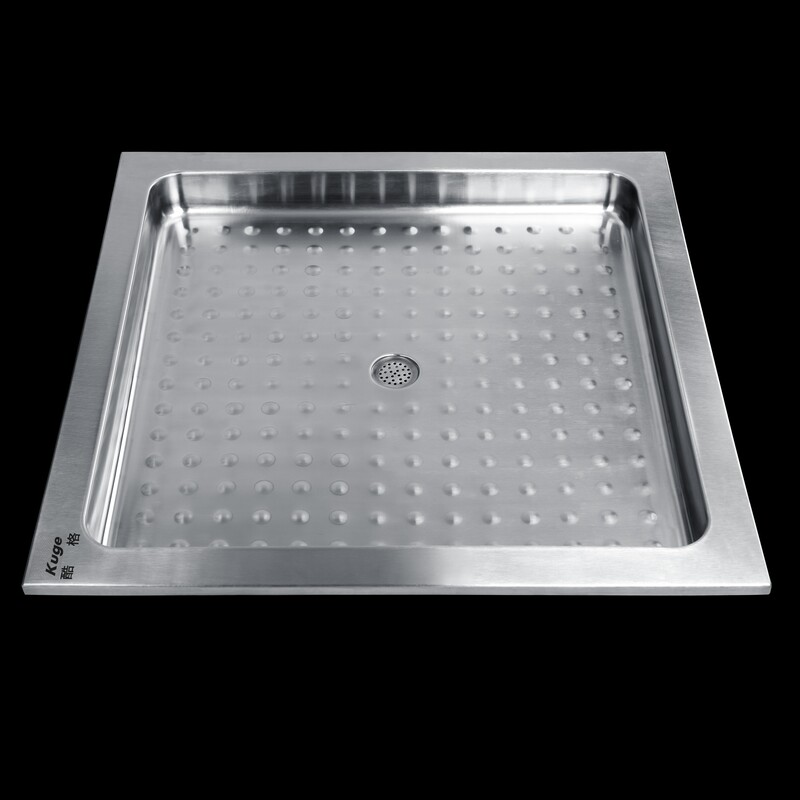 Hot Sale Kg St503 Stainless Steel Deep Camping Portable Shower Tray