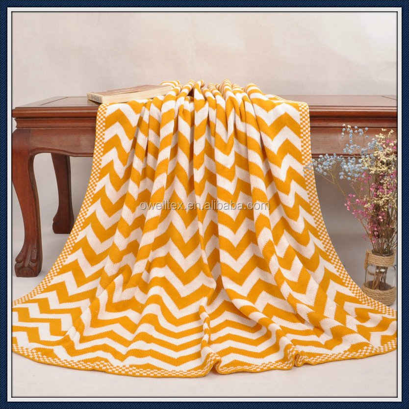 Chevron cable knitting throw warm heated heavy bed blanket